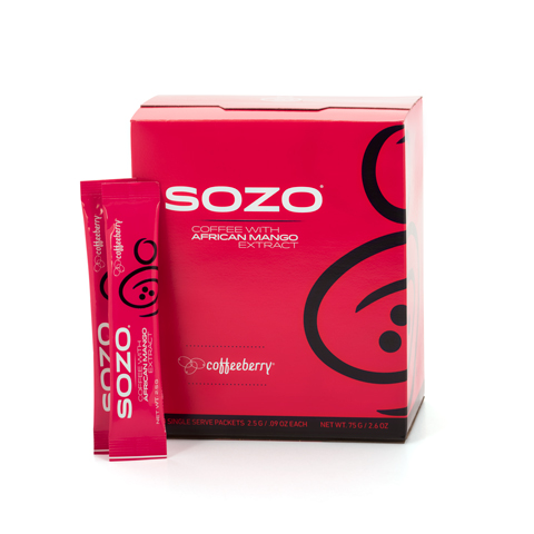 SOZO® Instant Coffee w/African Mango - 30 sachets