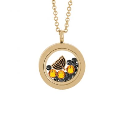 Hanukkah Lights Locket