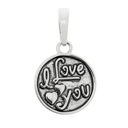 I Love You Silver Bangle Charm