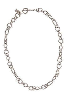 Smart Silver Tone Necklace